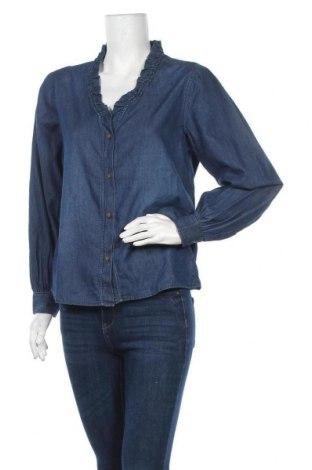 Дамска риза Jacqueline De Yong, Размер S, Цвят Син, Памук, Цена 13,50лв.