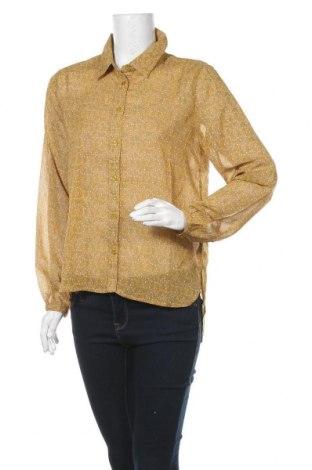Дамска риза Jacqueline De Yong, Размер S, Цвят Жълт, Полиестер, Цена 11,44лв.