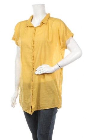 Γυναικείο πουκάμισο La Fee Maraboutee, Μέγεθος L, Χρώμα Κίτρινο, Βαμβάκι, Τιμή 21,94€