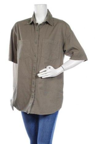 Дамска риза Missguided, Размер S, Цвят Зелен, Памук, Цена 24,70лв.