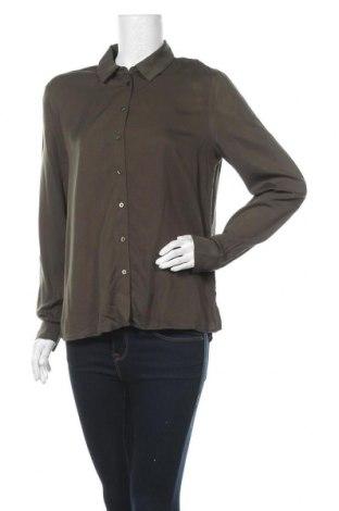 Дамска риза Object, Размер M, Цвят Зелен, Вискоза, Цена 36,75лв.
