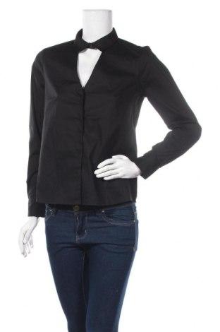 Дамска риза On.You, Размер S, Цвят Черен, 98% памук, 2% еластан, Цена 19,58лв.