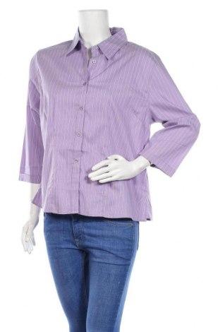 Дамска риза Paul Harris Design, Размер XL, Цвят Лилав, 65% памук, 28% полиамид, 4% еластан, 3% полиестер, Цена 8,13лв.