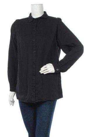 Дамска риза Pieces, Размер M, Цвят Черен, Цена 12,25лв.