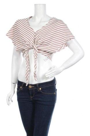 Дамска риза Pull&Bear, Размер M, Цвят Многоцветен, 66% полиестер, 32% памук, 2% еластан, Цена 5,00лв.
