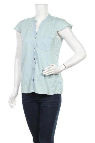 Γυναικείο πουκάμισο Tom Tailor, Μέγεθος M, Χρώμα Μπλέ, Βαμβάκι, Τιμή 8,51€