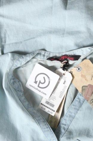 Γυναικείο πουκάμισο Tom Tailor, Μέγεθος M, Χρώμα Μπλέ, Βαμβάκι, Τιμή 22,81€