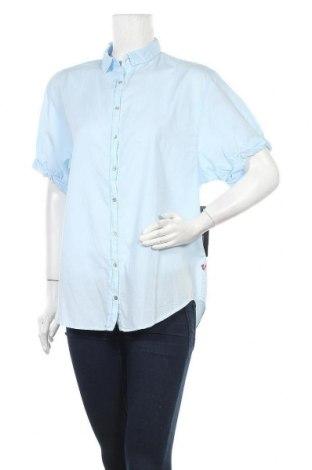 Дамска риза True Religion, Размер S, Цвят Син, 56% тенсел, 44% памук, Цена 106,60лв.