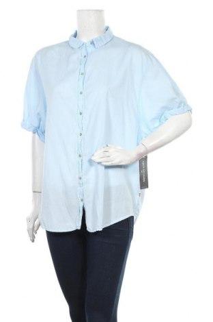 Дамска риза True Religion, Размер L, Цвят Син, 56% тенсел, 44% памук, Цена 26,65лв.