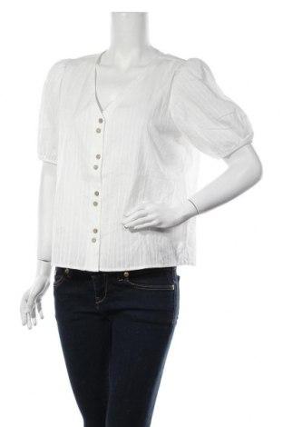 Дамска риза Vila, Размер M, Цвят Бял, Памук, Цена 31,85лв.