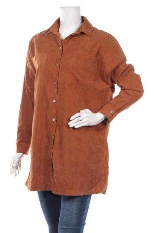 Дамска риза Vila, Размер M, Цвят Кафяв, Полиестер, Цена 9,19лв.