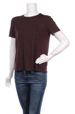 Дамска тениска Aware by Vero Moda, Размер S, Цвят Кафяв, 95% лиосел, 5% еластан, Цена 19,72лв.