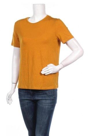 Γυναικείο t-shirt Aware by Vero Moda, Μέγεθος S, Χρώμα Κίτρινο, 95% lyocell, 5% ελαστάνη, Τιμή 4,93€