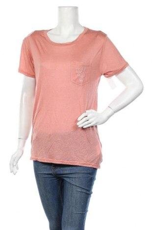 Γυναικείο t-shirt Billabong, Μέγεθος L, Χρώμα Ρόζ , 90% μοντάλ, 10% μετάξι, Τιμή 7,64€