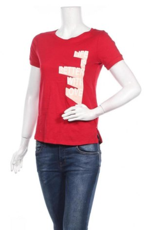 Дамска тениска Camaieu, Размер S, Цвят Червен, Памук, Цена 19,04лв.