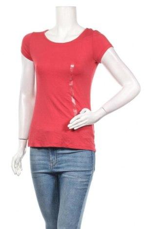 Дамска тениска Camaieu, Размер S, Цвят Червен, 95% вискоза, 5% еластан, Цена 18,20лв.
