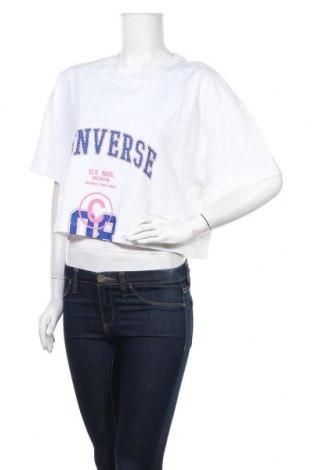 Γυναικείο t-shirt Converse, Μέγεθος L, Χρώμα Λευκό, Βαμβάκι, Τιμή 23,12€