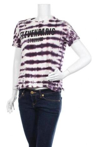 Дамска тениска Eleven Paris, Размер XS, Цвят Лилав, Памук, Цена 40,12лв.