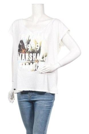 Дамска блуза Franklin & Marshall, Размер L, Цвят Бял, 50% памук, 50% лен, Цена 30,40лв.