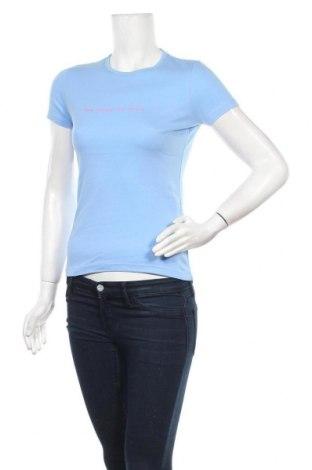 Дамска тениска French Connection, Размер S, Цвят Син, Памук, Цена 36,75лв.