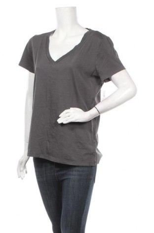 Дамска тениска Gap, Размер L, Цвят Сив, Памук, Цена 28,60лв.