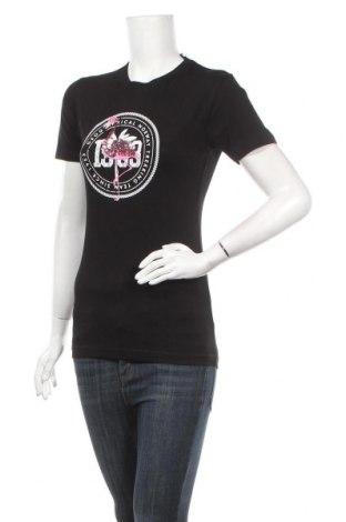 Дамска тениска Geographical Norway, Размер M, Цвят Черен, 95% памук, 5% еластан, Цена 32,50лв.