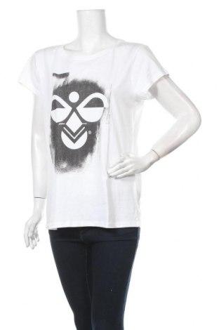 Дамска тениска Hummel, Размер XL, Цвят Бял, Памук, Цена 25,35лв.