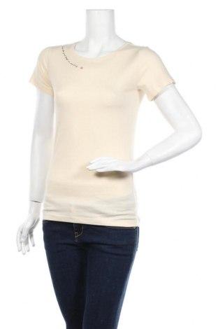 Дамска тениска Jacqueline De Yong, Размер S, Цвят Екрю, Памук, Цена 18,85лв.