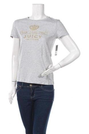 Дамска тениска Juicy Couture, Размер S, Цвят Сив, 100% памук, Цена 37,20лв.