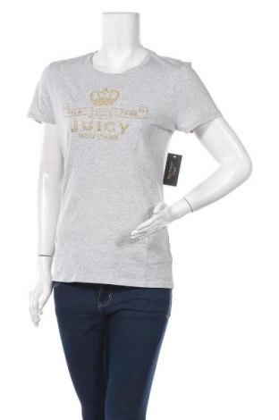 Дамска тениска Juicy Couture, Размер M, Цвят Сив, 100% памук, Цена 37,20лв.