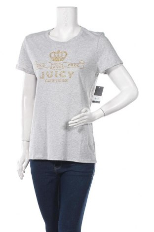 Дамска тениска Juicy Couture, Размер L, Цвят Сив, 100% памук, Цена 40,30лв.