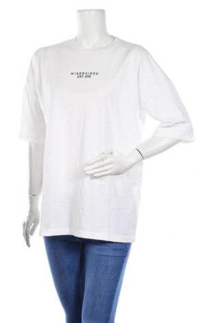 Дамска тениска Missguided, Размер M, Цвят Бял, 52% полиестер, 48% памук, Цена 20,80лв.