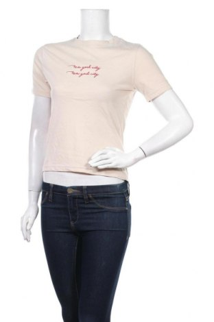 Дамска тениска Missguided, Размер S, Цвят Бежов, 55% полиестер, 45% памук, Цена 16,90лв.
