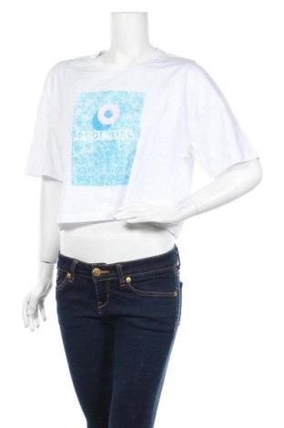Γυναικείο t-shirt Noisy May, Μέγεθος M, Χρώμα Λευκό, 95% βαμβάκι, 5% ελαστάνη, Τιμή 7,22€
