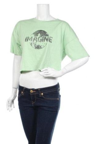 Γυναικείο t-shirt Noisy May, Μέγεθος M, Χρώμα Πράσινο, Βαμβάκι, Τιμή 7,22€