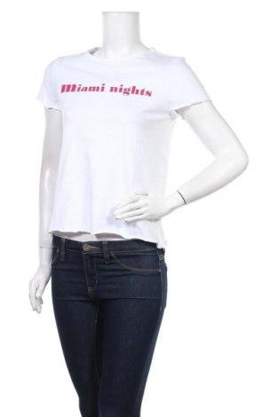 Γυναικείο t-shirt Noisy May, Μέγεθος S, Χρώμα Λευκό, Βαμβάκι, Τιμή 8,77€