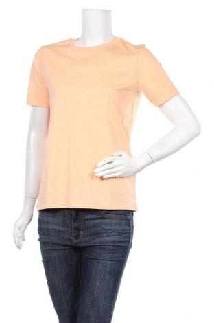 Дамска тениска Pieces, Размер S, Цвят Оранжев, Памук, Цена 18,85лв.