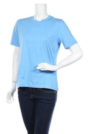 Γυναικείο t-shirt Pieces, Μέγεθος M, Χρώμα Μπλέ, Βαμβάκι, Τιμή 6,20€