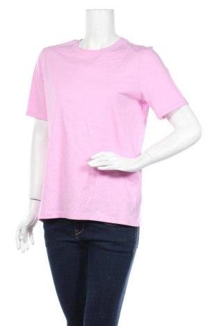 Дамска тениска Pieces, Размер M, Цвят Розов, Памук, Цена 21,00лв.