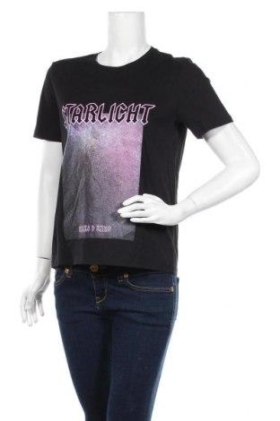 Γυναικείο t-shirt Pieces, Μέγεθος M, Χρώμα Μαύρο, Βαμβάκι, Τιμή 6,20€