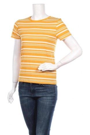 Дамска тениска Pimkie, Размер M, Цвят Жълт, 63% полиестер, 30% вискоза, 7% еластан, Цена 12,00лв.