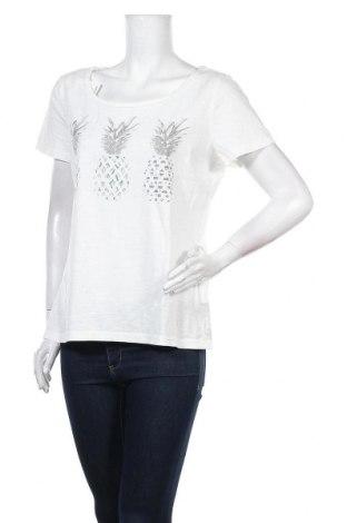 Дамска тениска Tom Tailor, Размер XL, Цвят Бял, Памук, Цена 35,77лв.