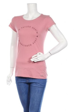 Дамска тениска Tom Tailor, Размер S, Цвят Розов, 100% памук, Цена 25,00лв.