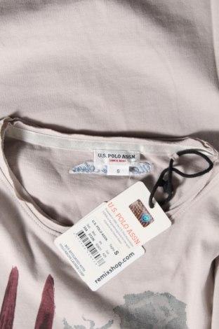 Дамска тениска U.S. Polo Assn., Размер S, Цвят Сив, Памук, Цена 47,40лв.