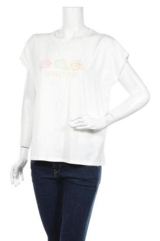 Дамска тениска Vero Moda, Размер M, Цвят Бял, 48% памук, 48% модал, 4% еластан, Цена 18,85лв.