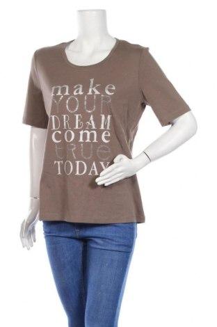 Γυναικείο t-shirt Via Appia, Μέγεθος L, Χρώμα Καφέ, Βαμβάκι, Τιμή 22,27€
