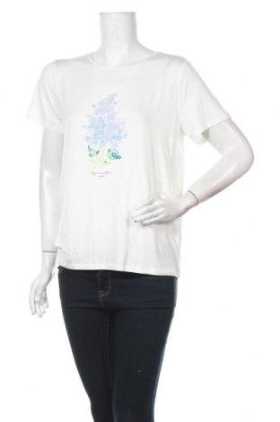 Дамска тениска Vila, Размер L, Цвят Бял, 95% вискоза, 5% еластан, Цена 17,00лв.