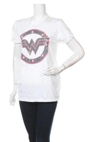 Дамска тениска Wonder Woman, Размер M, Цвят Бял, Памук, Цена 24,48лв.
