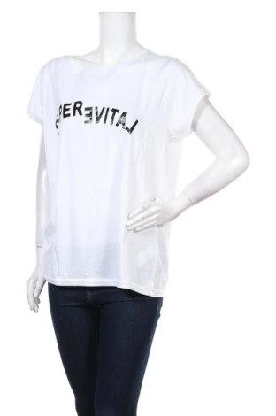 Дамска тениска Yaya, Размер XL, Цвят Бял, Памук, Цена 21,42лв.