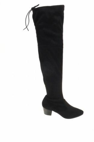 Γυναικείες μπότες Buffalo, Μέγεθος 37, Χρώμα Μαύρο, Κλωστοϋφαντουργικά προϊόντα, Τιμή 21,94€